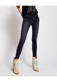 ONETEASPOON - Czarne jeansy Preachers High Waist. Stan: podwyższony. Kolor: czarny. Wzór: aplikacja. Styl: klasyczny