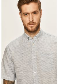 Niebieska koszula Tom Tailor Denim casualowa, z krótkim rękawem, na co dzień, button down