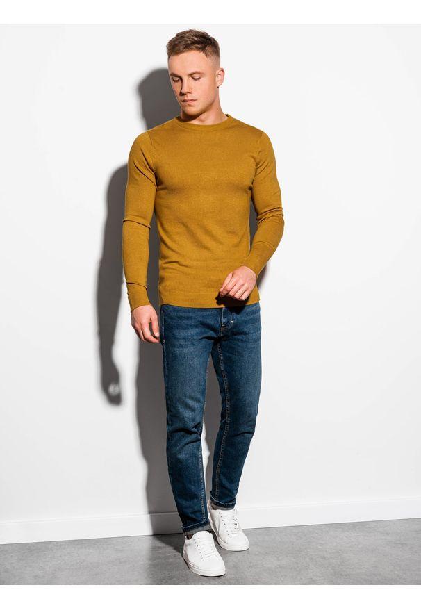 Żółty sweter Ombre Clothing klasyczny
