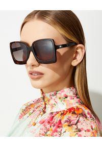 Tom Ford - TOM FORD - Kwadratowe okulary przeciwsłoneczne Katrine. Kolor: brązowy