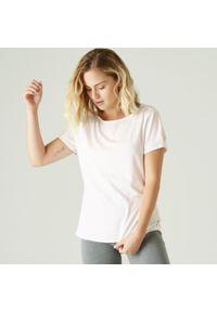 NYAMBA - Koszulka fitness. Kolor: biały. Materiał: lyocell, elastan, poliester, materiał, bawełna. Długość rękawa: krótki rękaw. Długość: krótkie. Wzór: ze splotem. Sport: fitness