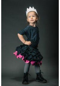 Różowa spódniczka Hultaj Polski w kolorowe wzory, na co dzień, krótka, casualowa