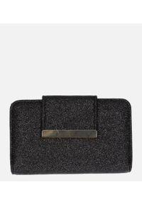 Czarny portfel Cedar