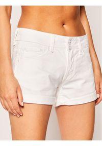 Białe szorty jeansowe Pepe Jeans