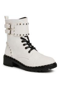 Białe buty trekkingowe DeeZee z cholewką
