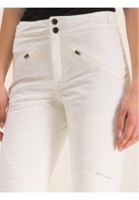 Białe spodnie sportowe Spyder narciarskie