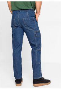 """Dżinsy bojówki Regular Fit Straight z bawełny organicznej bonprix niebieski """"stone"""". Kolor: niebieski"""