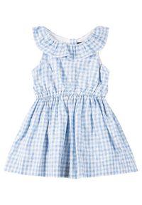 Niebieska sukienka Polo Ralph Lauren z nadrukiem, prosta, casualowa