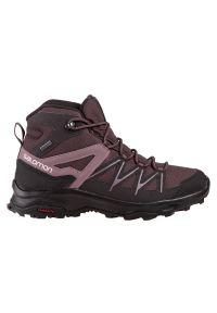 salomon - Buty damskie trekkingowe Salomon Daintree Mid GTX 412313. Materiał: skóra, materiał, syntetyk. Szerokość cholewki: normalna. Sezon: zima