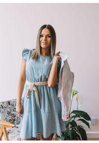 Sukienka Fanaberia.com boho, mini, w kolorowe wzory