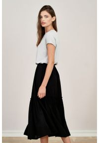 Marie Zélie - Spódnica Ruth wiskoza czarna. Kolor: czarny. Materiał: wiskoza. Długość: długie. Sezon: lato