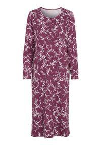 Cellbes Długa koszula nocna śliwkowy w kwiaty female fioletowy/ze wzorem 46/48. Kolor: fioletowy. Długość: długie. Wzór: kwiaty