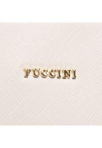 Beżowa torebka klasyczna Puccini klasyczna, skórzana