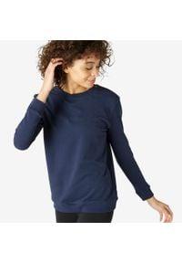 NYAMBA - Bluza fitness. Kolor: niebieski. Materiał: materiał, bawełna, poliester, elastan. Sport: fitness