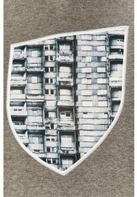 Szara bluza nierozpinana Prosto. casualowa, bez kaptura