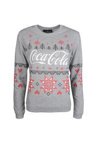 """Sugarbird Bluza """"Coca-Cola"""". Materiał: tkanina. Wzór: aplikacja, nadruk. Styl: wizytowy"""