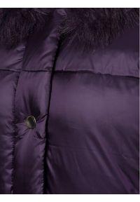 Fioletowa kurtka puchowa Emporio Armani