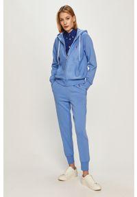 Niebieska bluza rozpinana Polo Ralph Lauren casualowa, gładkie, polo, na co dzień