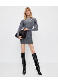 ISABEL MARANT - Srebrna sukienka mini Waden. Kolor: srebrny. Materiał: materiał. Typ sukienki: dopasowane. Długość: mini