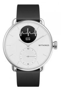 WITHINGS - Smartwatch Withings Scanwatch 38mm biały. Rodzaj zegarka: smartwatch. Kolor: biały. Materiał: koronka. Styl: klasyczny