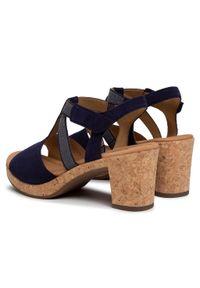 Niebieskie sandały Gabor na średnim obcasie, casualowe, na obcasie #7