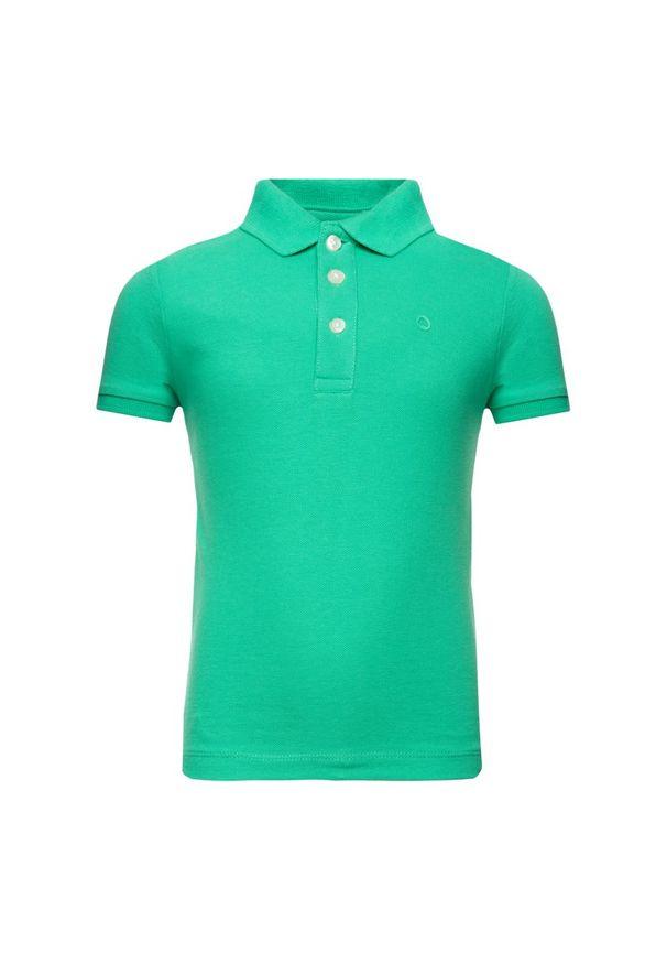 Zielony t-shirt polo Mayoral polo