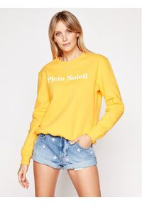 Drivemebikini Bluza Plein Soleil 2019-DRV-011_YW Żółty Regular Fit. Kolor: żółty