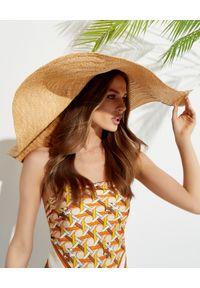 RUSLAN BAGINSKIY - Jasny słomiany kapelusz z dużym rondem. Kolor: beżowy. Sezon: lato