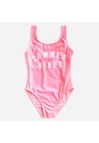 Różowy strój kąpielowy Reserved z nadrukiem