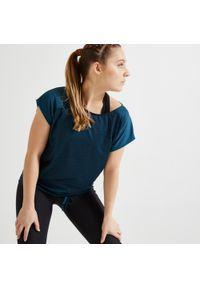 Koszulka do fitnessu DOMYOS z krótkim rękawem, krótka