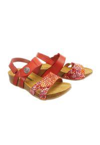 Czerwone sandały Dr. Brinkmann na rzepy