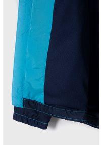 Niebieska kurtka GAP z kapturem, gładkie, na co dzień