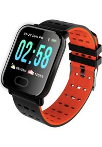 Pomarańczowy zegarek Roneberg smartwatch