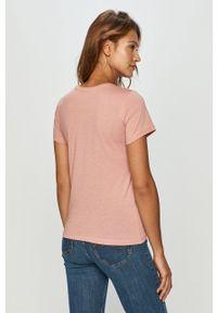 Różowa bluzka only z nadrukiem, casualowa
