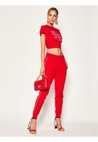 Czerwone spodnie dresowe Karl Lagerfeld