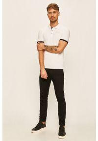 Biała koszulka polo Guess Jeans na co dzień, polo
