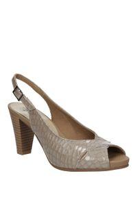 Beżowe sandały Pitillos w kolorowe wzory, casualowe