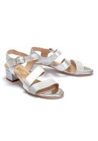Srebrne sandały Gamis Collection