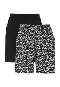 Cellbes Wzorzyste szorty z kieszeniami 2 Pack Czarny biały female czarny/biały 62/64. Kolor: wielokolorowy, biały, czarny. Materiał: guma. Wzór: gładki