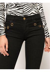 Czarne jeansy slim Cavalli Class