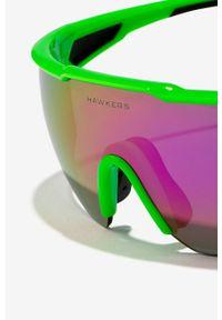 Hawkers - Okulary przeciwsłoneczne Green Fluor Cycling. Kształt: prostokątne