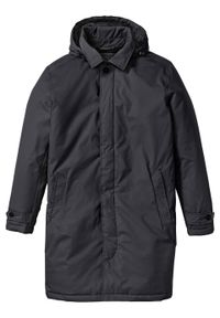 Krótki płaszcz przeciwdeszczowy, watowany bonprix czarny. Kolor: czarny. Długość: krótkie