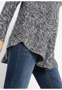 Szary sweter bonprix z długim rękawem, melanż, długi