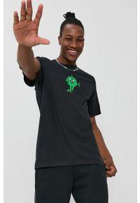 HUF - T-shirt bawełniany. Okazja: na co dzień. Kolor: czarny. Materiał: bawełna. Wzór: nadruk. Styl: casual