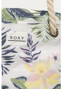 Biała torba plażowa Roxy na ramię, duża