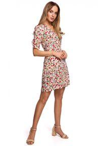 Sukienka MOE z krótkim rękawem, wakacyjna, dopasowana, na lato