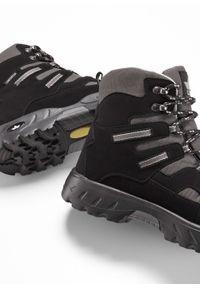 Kozaki zimowe Lico bonprix czarno-szary. Kolor: czarny. Materiał: nylon. Sezon: zima #4