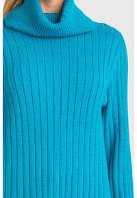 Sweter Armani Exchange z golfem, na spacer, w kolorowe wzory