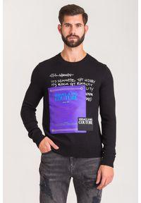 Versace Jeans Couture - BLUZA VERSACE JEANS COUTURE. Typ kołnierza: kołnierzyk stójkowy, kaptur. Styl: klasyczny