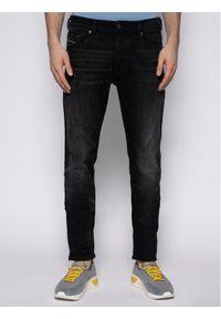 Diesel Jeansy Tepphar 00SWID 0098B Czarny Slim Fit. Kolor: czarny. Materiał: elastan, jeans, poliester, bawełna